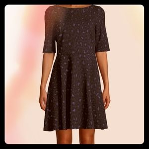 NWT Kate Spade Fit and Flare Leopard Print dress